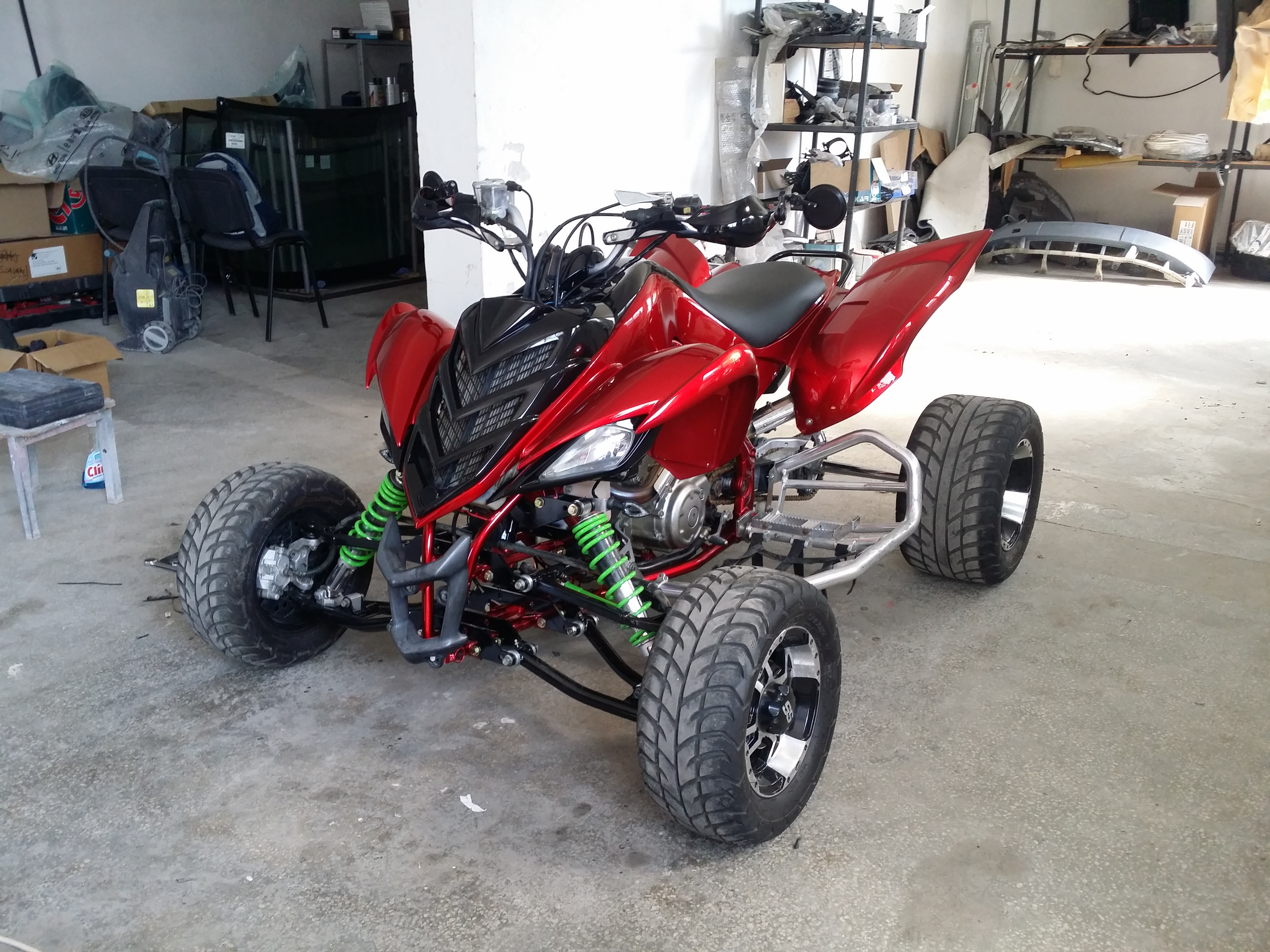 Lowered Raptor 700 CHAIN WHIP Problem, PLEASE HELP! :D:D