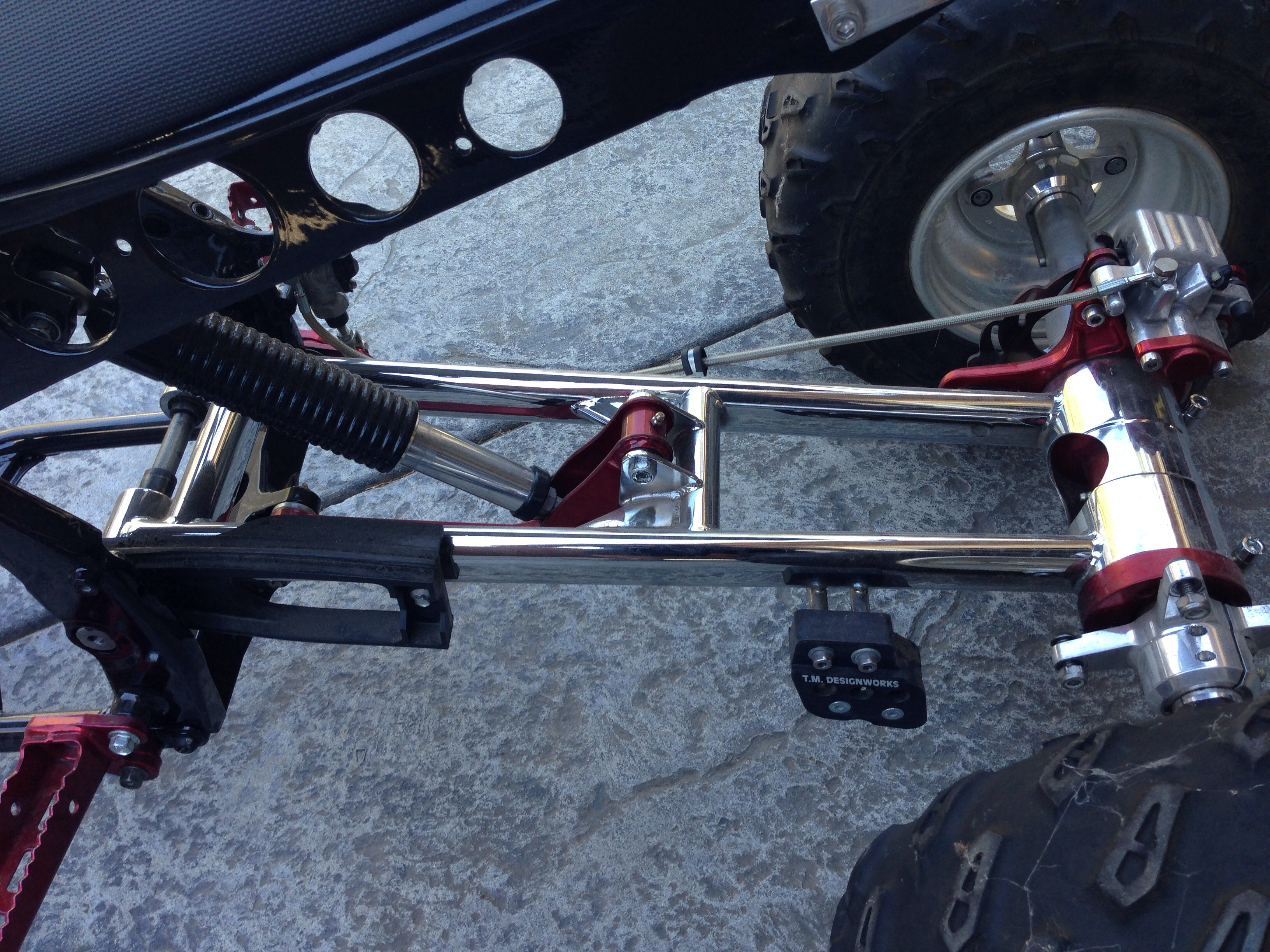 Raptor 700 Front A Arms Marvin Shaw Shock And Rear Swing